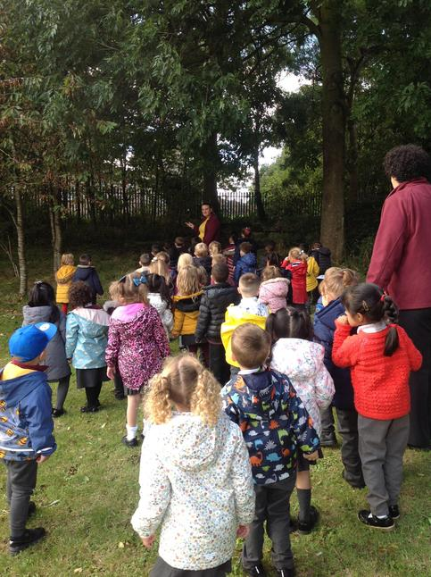 Our walk through the forest to compare an owls habitat to our own