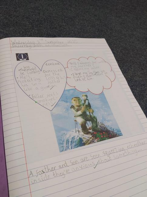 We infer characters' feelings and emotions