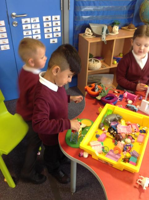 The children loved telling stories with small world.