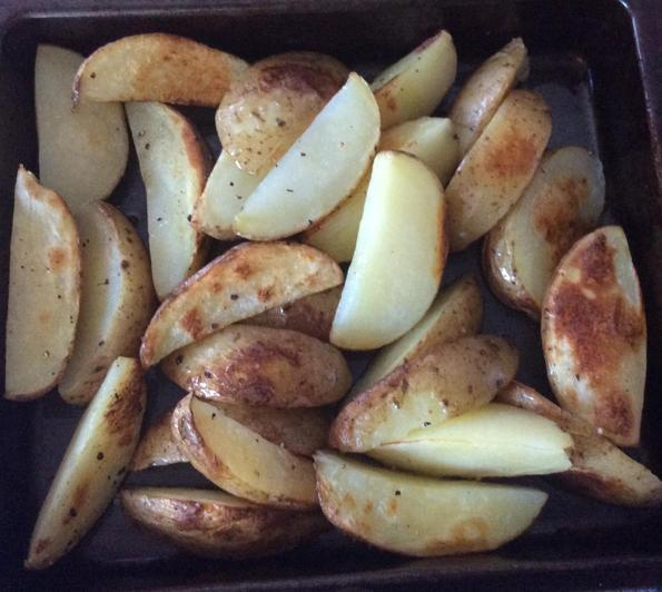 Cut your potatoes into wedges.