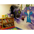 The 'magical mural' in the upper school library