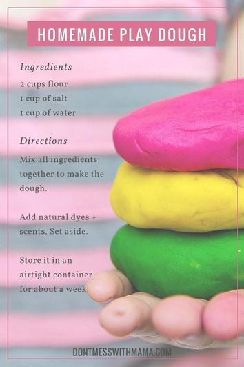 Experiment and create using play dough