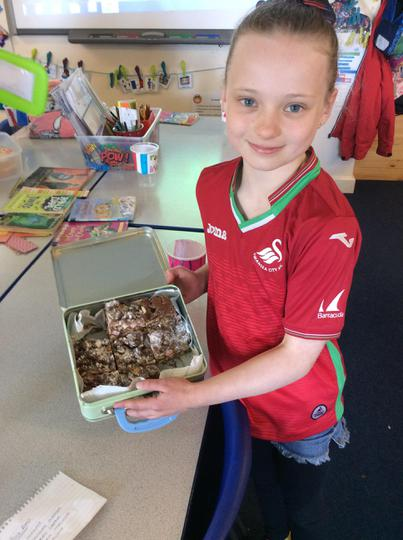 Ruby made rocking rocky road! IT WAS DELICIOUS!!