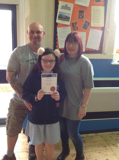 Well done Ivy on your Bronze award!