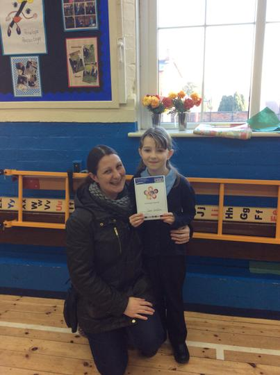 Well done Cassie on getting our caring award!