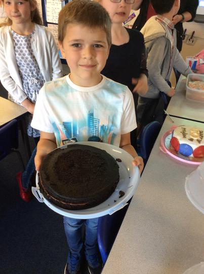 Kenzie made a choctastic chocolate cake!