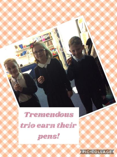 Well done Kacey, Effie and Kaydn!