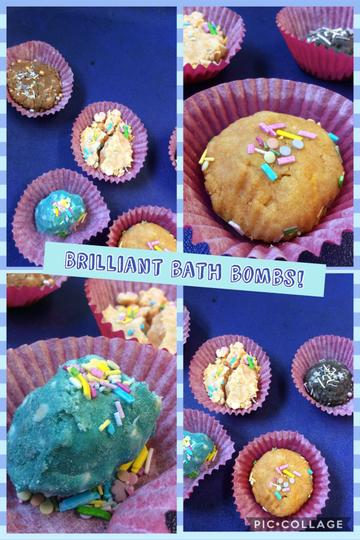We've been busy making bath bombs!