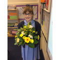 A beautiful flower arrangement for homework!
