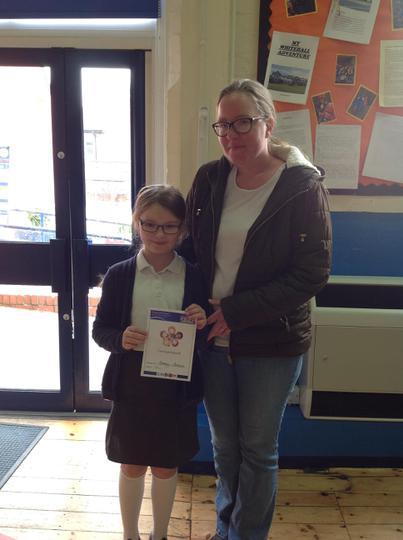 Harmeny got her caring award!