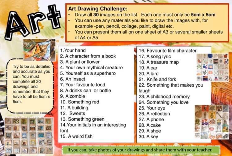 Art drawing challenge.