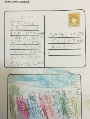 We have written post cards to the Giant from Jack.