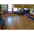Reception classroom - carpet area