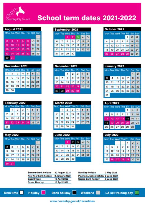 2021-22 Term Dates