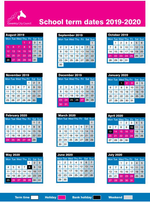 2019-20 Term Dates