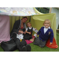 This den even has walls - well done girls!