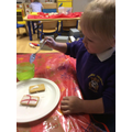 Flag biscuits for St George's day