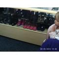 Second hand shop shoe counter