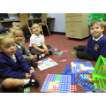 Poppies play numicon to learn about number