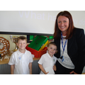 Shay and Joshua receive Headteacher awards