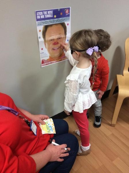 Pin the red nose on Mr Tumble