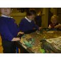 Exploring dinosaur Tuff tray