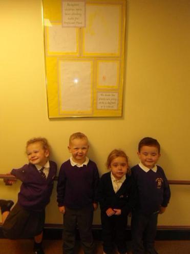 Lily, Jaidynn, Tallice and Alfie share their art.