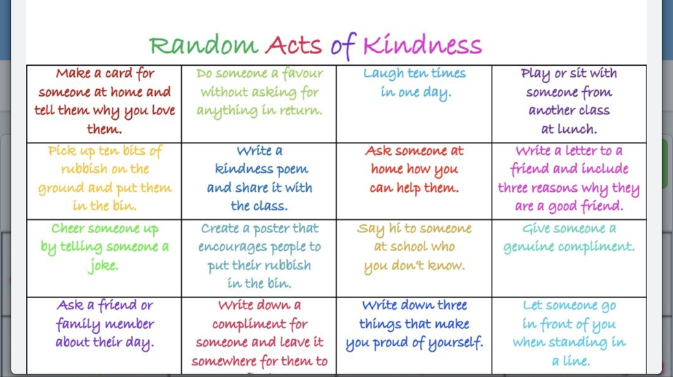How many 'acts of kindness' can you do?