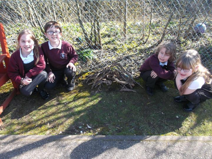 We made dens on the ground ...