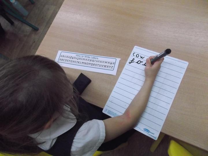Using phonics to write words ...