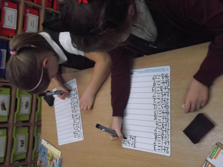 We practise our number facts.