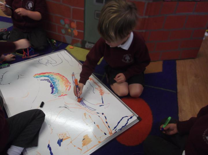 drawing pictures of the Autumn world outside