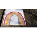 """A """"natural"""" rainbow to hang on the school fence"""