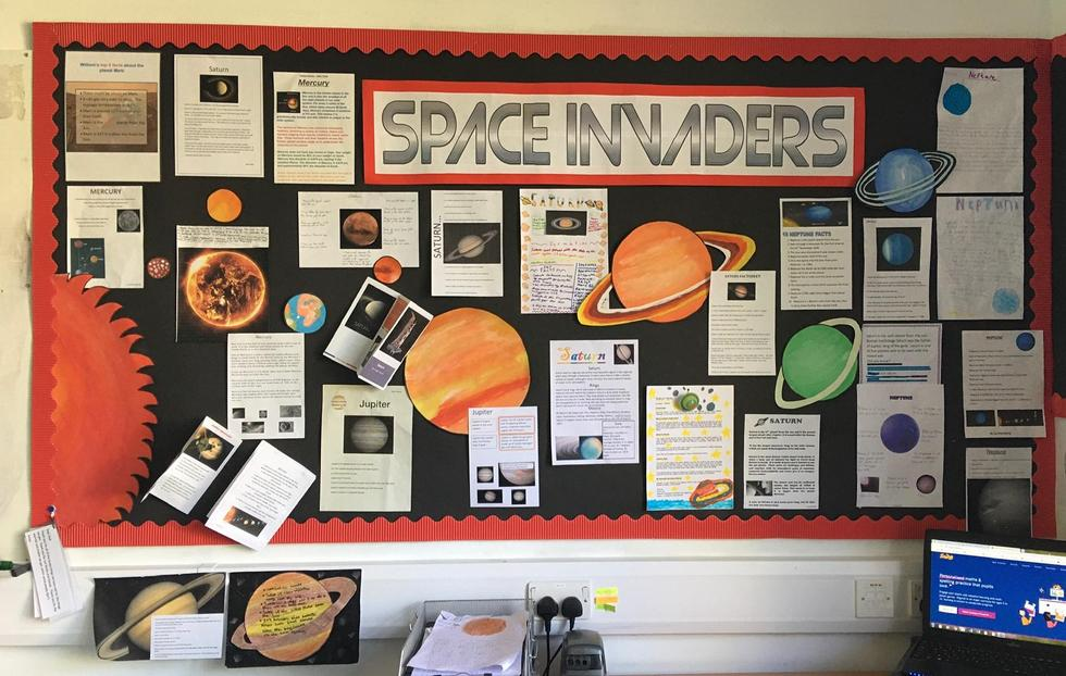Look at our fantastic display - full of facts about our Solar System