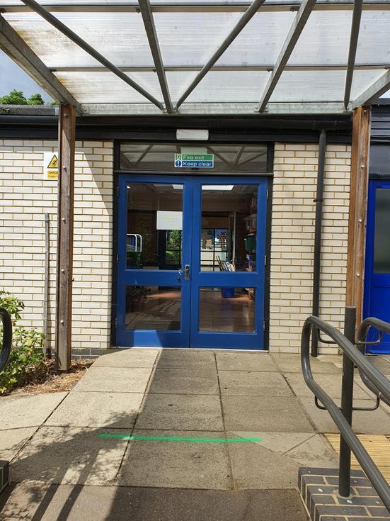 Our back door into school