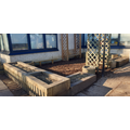 Seating and planting area