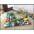 Annabel has built a Lego house.