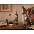 William has made a huge Lego tower!