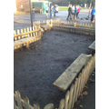 Seating area outside Badger class