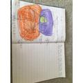 Ethan's writing.