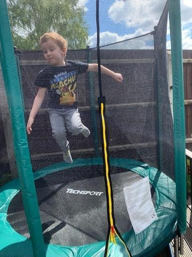 Guess who's got a new trampoline?