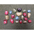 We have been making 'monster rocks'. Each colour represents a different emotion