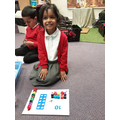 Using cubes and Numicon to represent different numbers