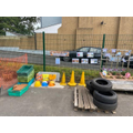 Our 'Builders Yard' - We love using the loose construction parts to build and balance