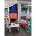 Our 'Home Corner' - We have lots of fun recreating roles in here