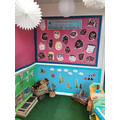 Our 'Calm Corner' - We have been learning ways to calm down and relax