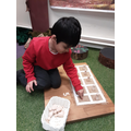 Counting using the 10's frame