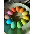 Madison and Garrett's rainbow eggs
