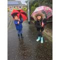 Enjoying the rain!