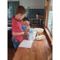 Thomas' first cake baking